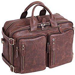 maletín de piel para portátil y documentos