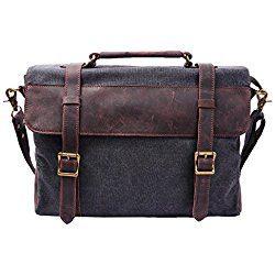 maletin de liezo y cuero de hombro portatil
